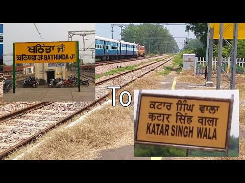 Uncut Short journey compilation in E Loco hauling train on Bhatinda New delhi route-BTI to KZW