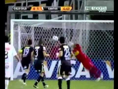 elano fantastic free kick goal colo colo vs santos 3 2 libertadores 2011 - Free Colo