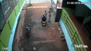 funny accident , cctv video