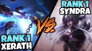 WHEN RANK 1 XERATH GOES UP AGAINST RANK 1 SYNDRA (MAGE BATTLE) - League of Legends