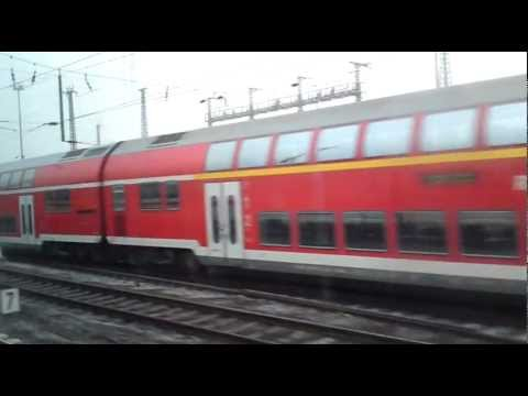 ICE from the inside - from Frankfurt am Main Hauptbahnhof to Aschaffenburg Hauptbahnhof
