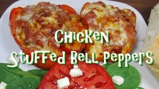 Chicken Stuffed Bell Peppers ~ Using Leftover Chicken