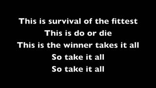 Repeat youtube video Eminem- Survival lyrics
