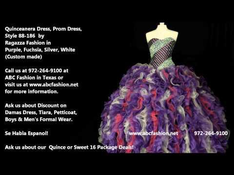 88 186 Purple Fuchsia Ragazza Fashion Quinceanera Dress, Prom Dress By Www Abcfashion Net