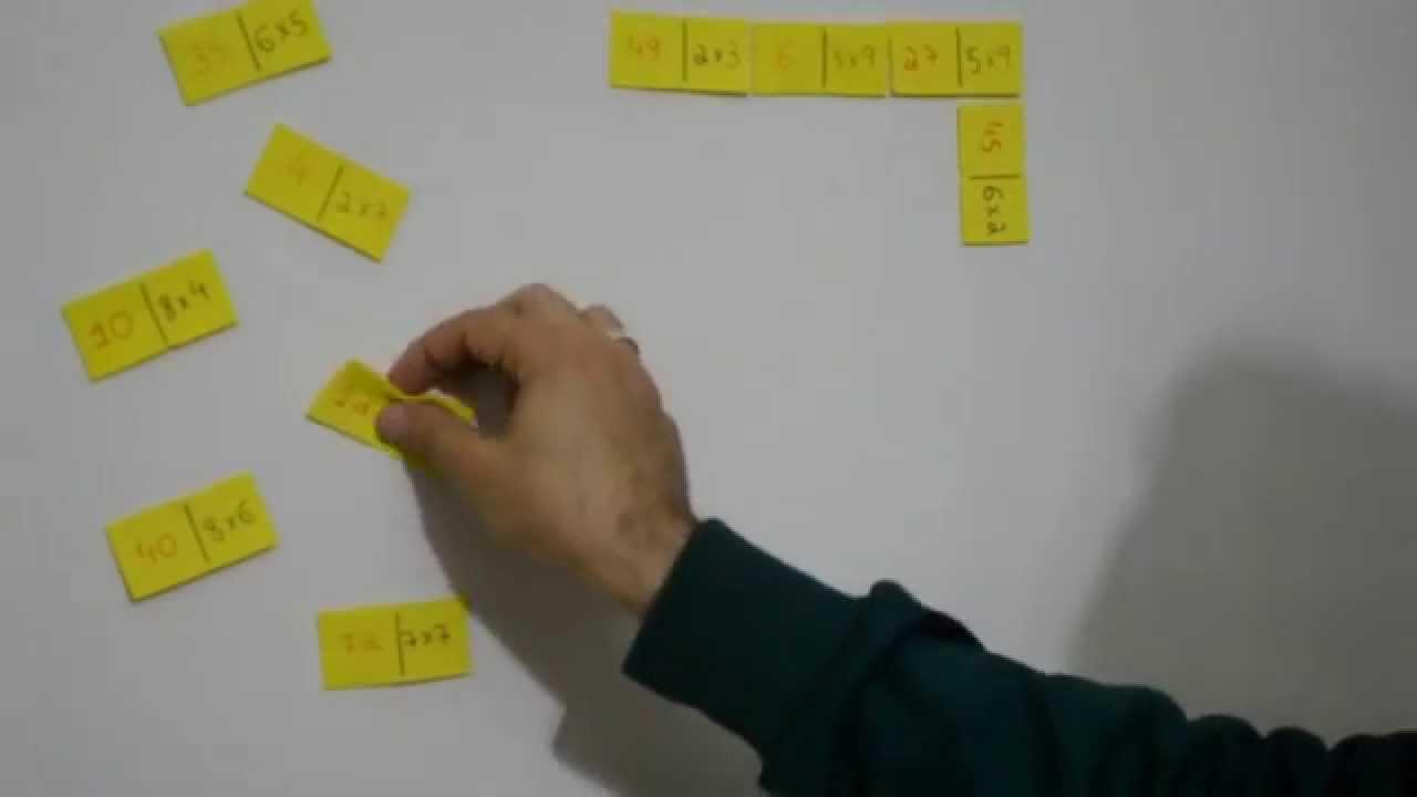 Domino Da Tabuada 5º Ano Fundamental I Multiplicacao Youtube