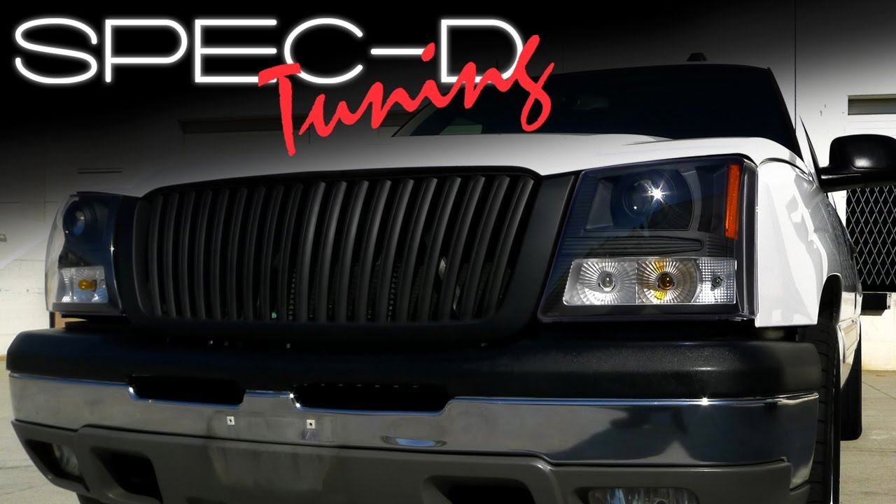 Specdtuning Installation Video 2003 05 Chevrolet Silverado Projector Headlights And Front Grille You