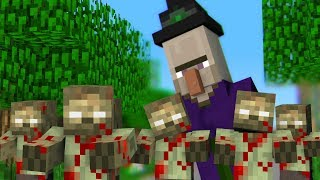 Monster School : WITCH Horror Game Challenge - Minecraft Animation