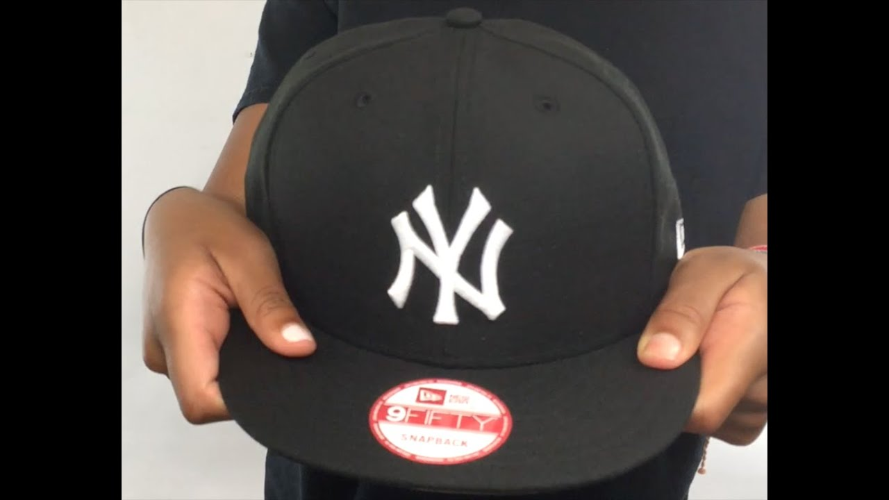 1626e77f8f8 Yankees  TEAM-BASIC SNAPBACK  Black-White Hat by New Era - YouTube
