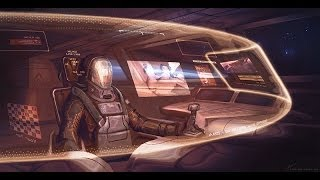 Digital Illustration Process : Sci fi Cockpit