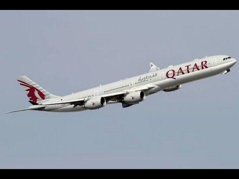 Qatar airways a380 Takeoff From Kuwait Airport - YouTube