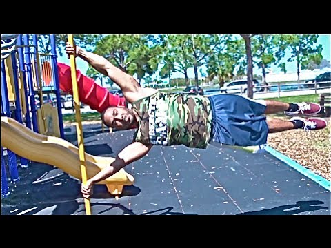 "how to do a ""human flag"" (ft. ed of the barstarzz) - youtube, Muscles"