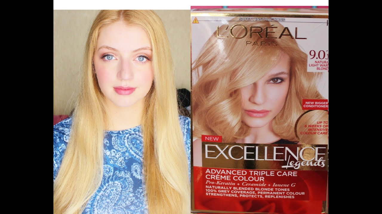 L'Oreal Paris Excellence Creme Light Blonde Hair Dye - YouTube