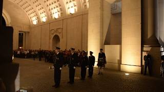 The Menin gate - Ypres - Last post ceremony. 14 Oct. 2018.