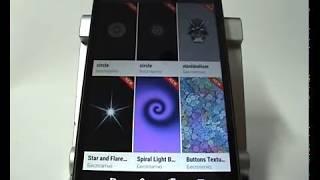 изменение фона экрана блокировки в смартфоне HTC
