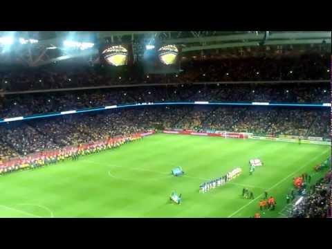 Sverige - England på Friends Arena | Nationalsångerna innan match