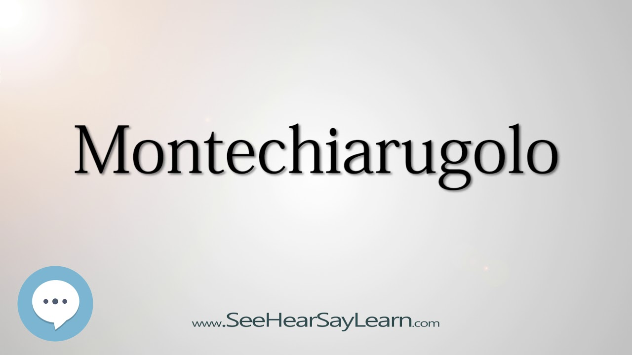 Download Montechiarugolo (How to Pronounce Cities of the World)💬⭐🌍✅