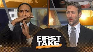 Stephen A. and Max debate whether LaVar Ball's mouth is good or bad for Lakers | First Take | E