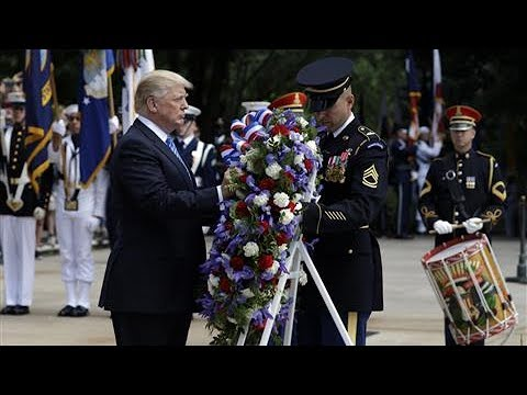 Trump Praises Fallen Soldiers In Memorial Day Ceremonies