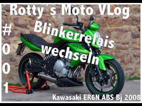 Kawasaki ER6N 2008 ABS Tutorial #001 tausch Blinkrelais Blinkgeber
