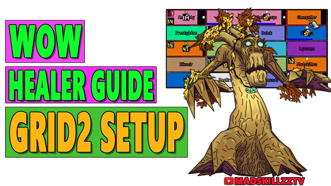 WOW HEALING GUIDE: Grid2 Resto Druid Profile [IMPORT]