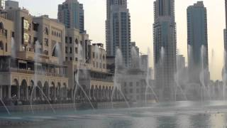 Dubai Mall fountain in Burj Khalifa lake