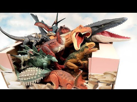 Whats In The Box : 50+ Dinosaur Toys - Jurassic World2 Dinosaurs And Schleich Dino Toys