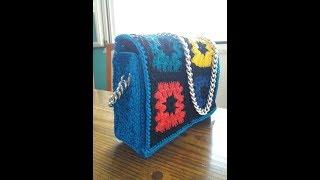 Pochette con mattonelle (granny square) 2° parte