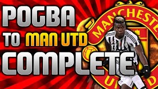 PAUL POGBA COMPLETES MAN UTD WORLD RECORD TRANSFER! - Football Manager 2016 Experiments #pogback