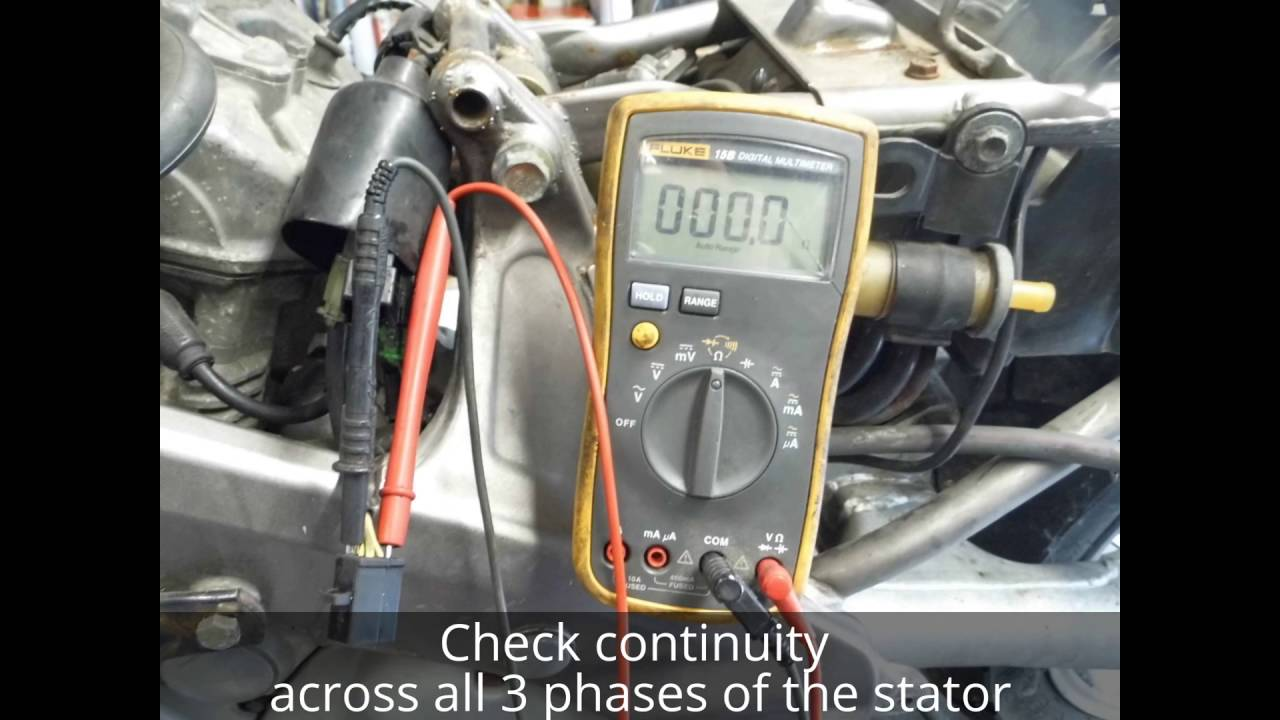 How to test a motorcycle stator - YouTube