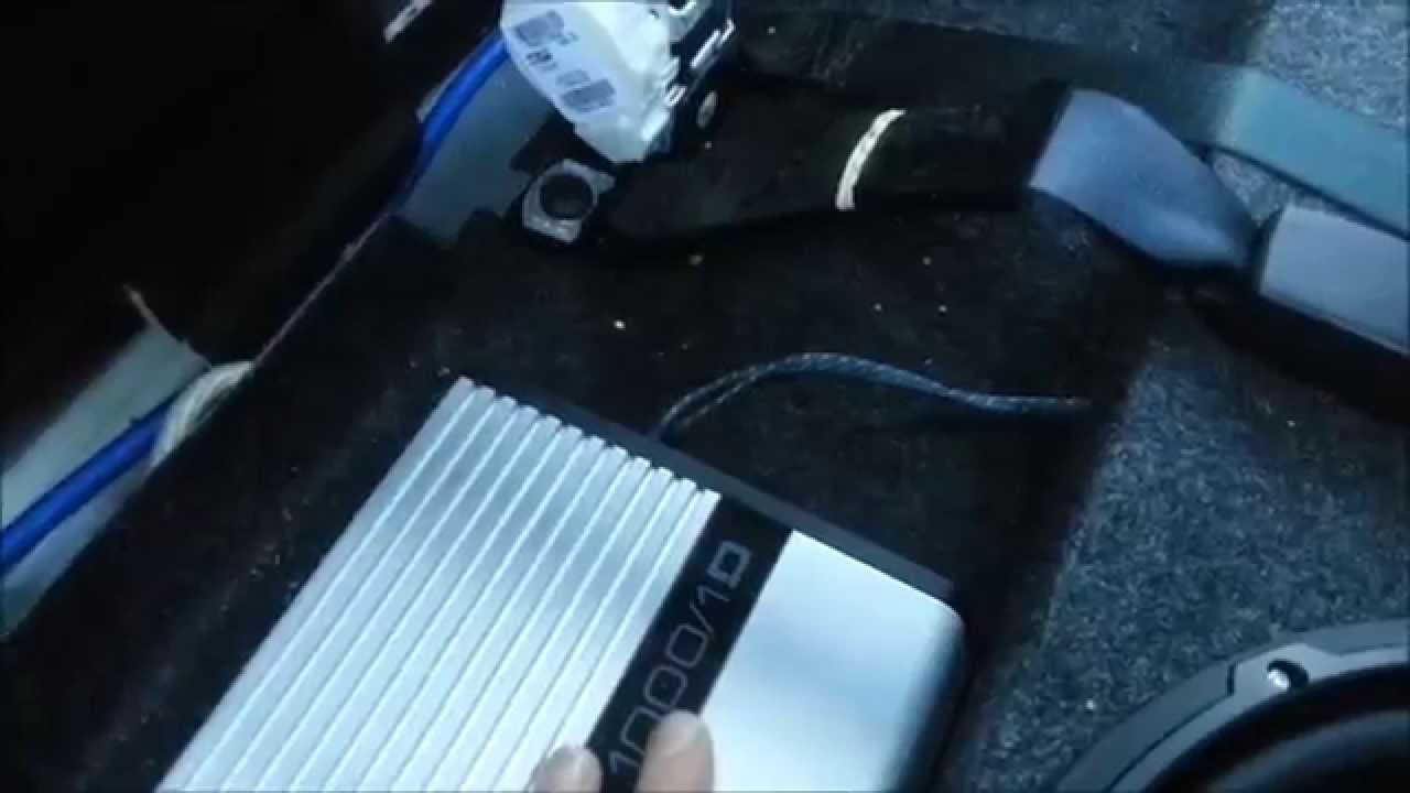 How to install a subwoofer and wire a amplifier in a dodge ram 1500 2013  YouTube