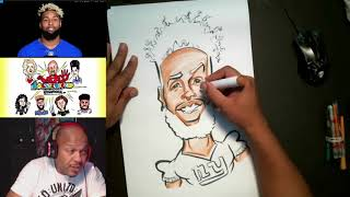 How To Draw and Color Caricature Odell Beckham Jr