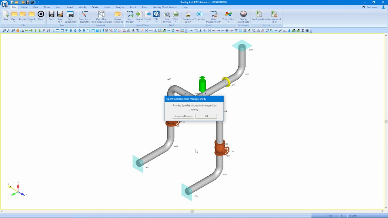 AutoPIPE and OpenPlant Isometrics Manager - Modifying Elements and Labeling  Tools