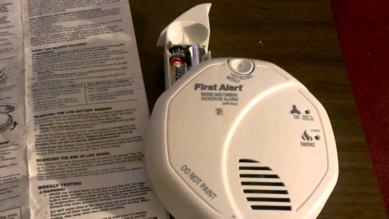 how to disable remote feature on first alert carbon monoxide smoke alarm youtube. Black Bedroom Furniture Sets. Home Design Ideas