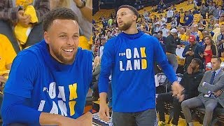 Warriors Honor Kevin Durant After Injury With Durant Oakland Shirts Before Game 6!