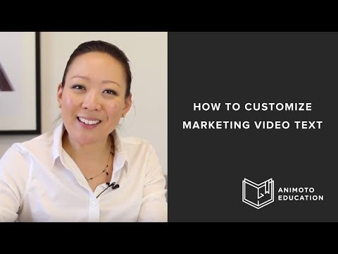 How to Customize Animoto Marketing Video Text