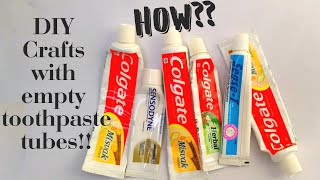 Incredible Crafts with the Empty Toothpaste tube | Recycle/Reuse Empty tubes|Best out of waste Craft
