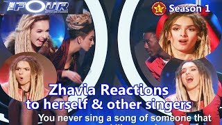 Zhavia Reactions To Herself & To Other Contestants and Judge...