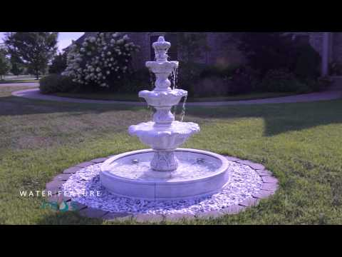 Three-Tier Renaissance Fountain in Valencia Basin - Henri Studio - 5705F12