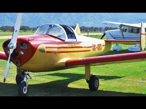 ERCO 415-C Ercoupe   Close-up, Start-up, Taxi, Takeoff And Low-pass