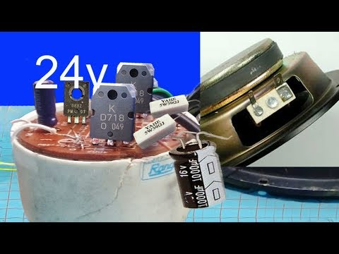 how to make simple 24v audio amplifier using transistor use 24v rh youtube com