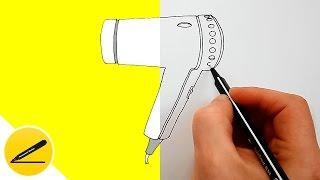 Как Нарисовать Фен для волос поэтапно | Рисуем Фен своими руками | Бытовая Техника