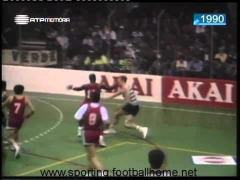 Basquetebol :: Sporting - 96 x Ginásio Figueirense - 92 de 1989/1990