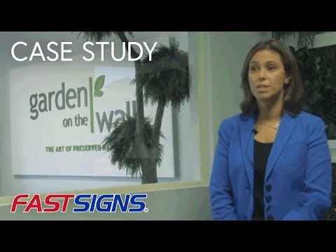 Attractive FASTSIGNS® Helps Garden On The Wall Grow Their Brand With Signage