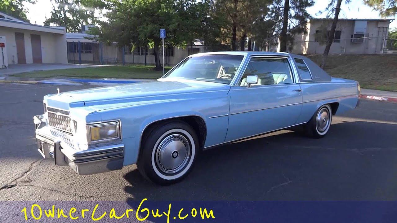 1977 Cadillac Coupe Deville Cdv 1 Owner 28 000 Original Miles De Ville Not Eldorado Near Mint Video