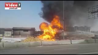 الحماية المدنية تحاول السيطرة على الحريق الهائل بـ