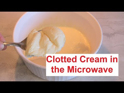Clotted Cream In The Microwave/ New Method Only On My Channel / #Recipe372CFF