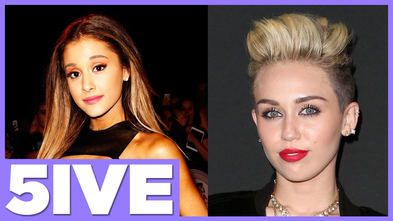 5 Most Dramatic Hairstyle Changes with Miley Cyrus & Ariana Grande ...
