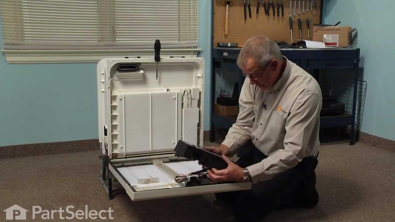 Dishwasher Repair Replacing The Thermal Fuse Harness Whirlpool Dryer Diagram 675813 Youtube