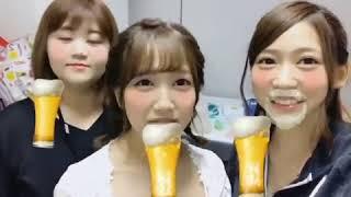 茂木忍 AKB48 ちょっと前の全握で撮った動画、乾杯したい 。2017.08.29.