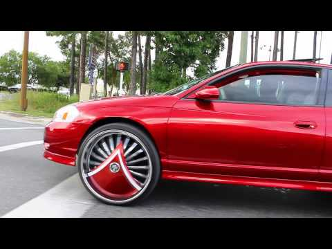 """Candy Apple Red Monte Carlo SS on 26"""" DUB Skirts"""